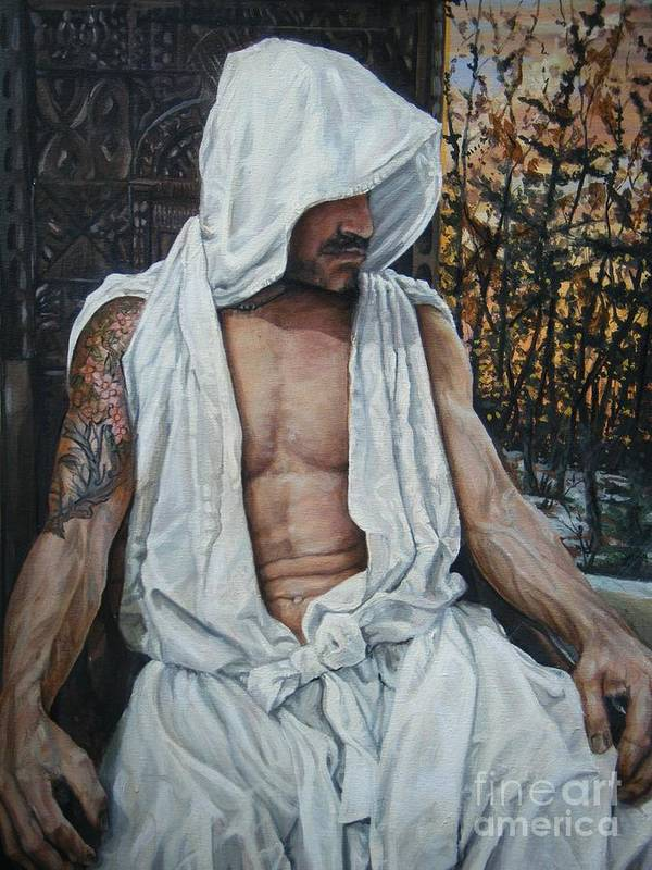 Male Art Print featuring the painting the Gentle man by Tom Acevedo