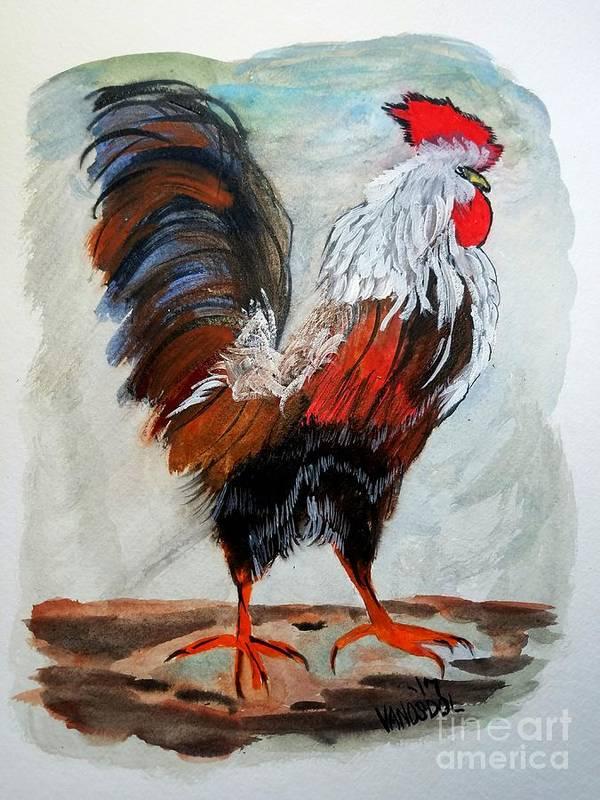 Proud Country Rooster by Scott D Van Osdol