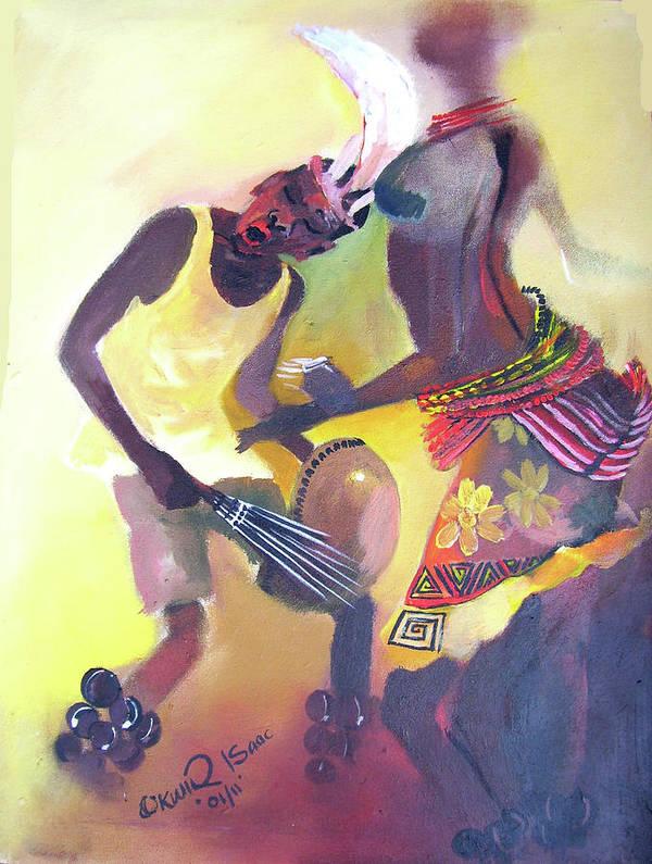 Art Print featuring the painting Larakaraka Dance by Okwir Isaac
