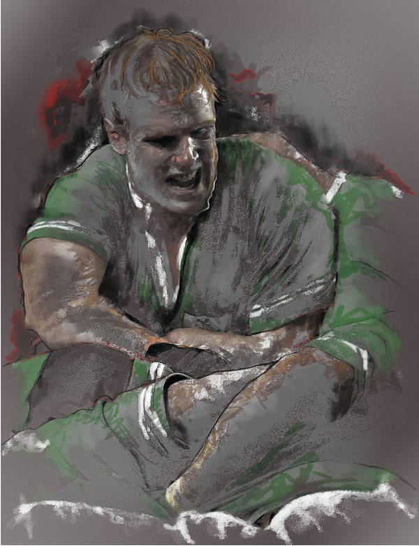 Rugby Art Print featuring the painting Oconell 2 by James Robinson