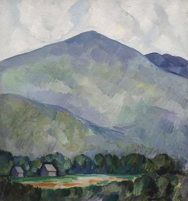 Marsden Hartley 1877 - 1943 MOUNTAINS NO. 23 MOUNTAIN LANDSCAPE by Marsden Hartley