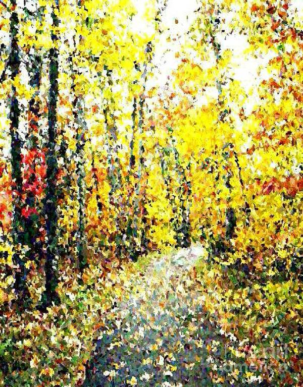 Fallscape Art Print featuring the painting Fallen Leaves Of Autumn by Don Phillips