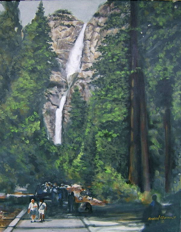 Yosemite National Park Art Print featuring the painting Yosemite by Howard Stroman