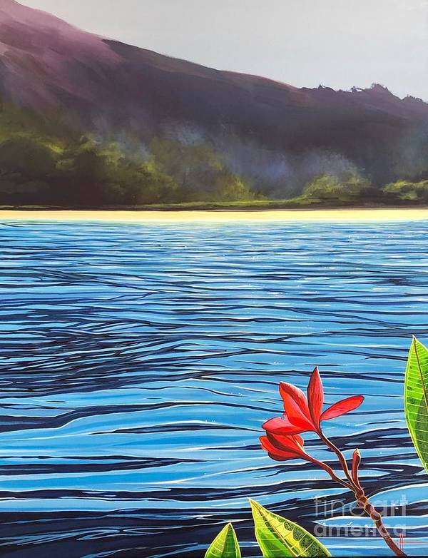 Caribbean Art Print featuring the painting Mysterious Island by Hunter Jay