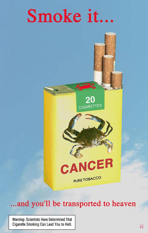 Anti-smoking Posters Art Print featuring the digital art Smoke It... by Jose Gomis