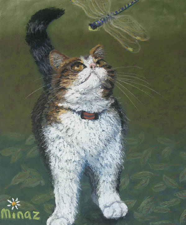 Kitty and her Dragonfly by Minaz Jantz