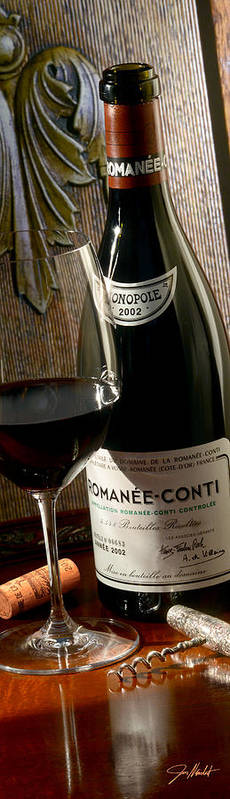 Wine Print featuring the photograph Romanee Conti by Jon Neidert