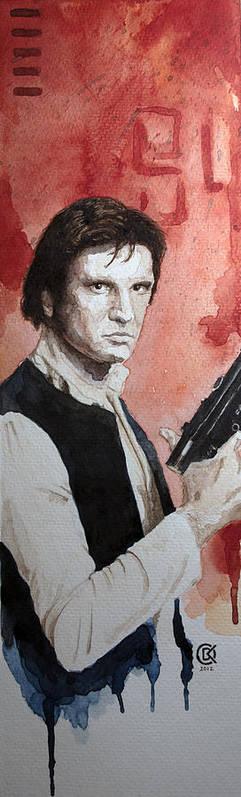 Star Wars Art Print featuring the painting Han Solo by David Kraig