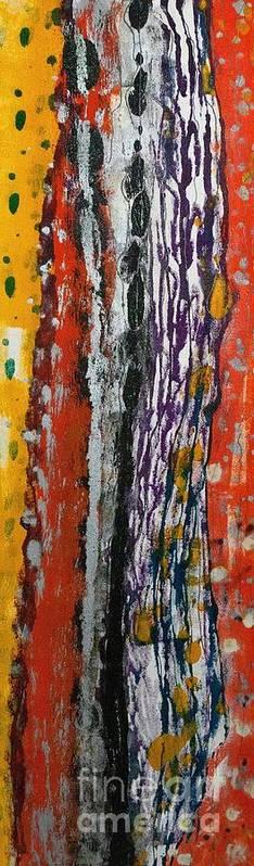 Www.artworkxofmann.com Art Print featuring the mixed media Uneven Lines by Annette Gardiner
