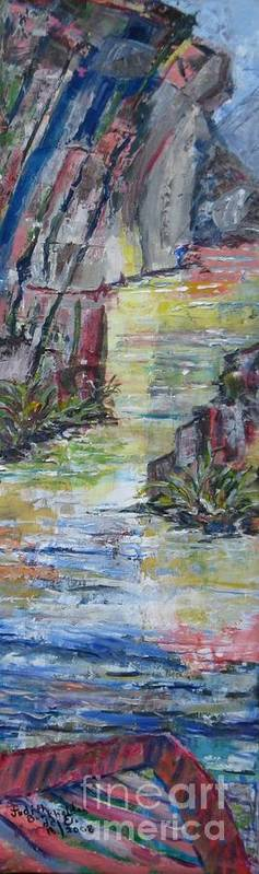 River Art Print featuring the painting The Gorge by Judith Espinoza