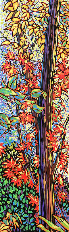 Red Art Print featuring the painting Tree Long by Nadi Spencer