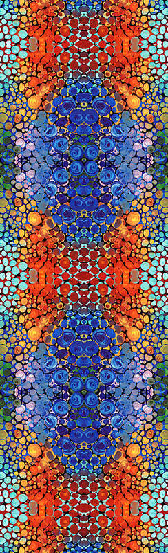 Pattern Art Print featuring the painting Colorful Layers Vertical - Abstract Art By Sharon Cummings by Sharon Cummings
