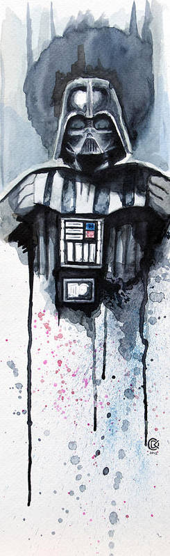 Star Wars Print featuring the painting Darth Vader by David Kraig