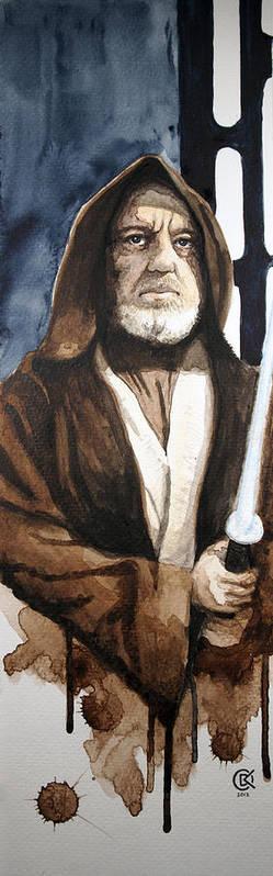Star Wars Art Print featuring the painting Obi Wan Kenobi by David Kraig