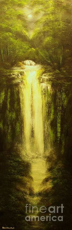 Waterfall Art Print featuring the painting High Falls-original Sold-buy Giclee Print Nr 37 Of Limited Edition Of 40 Prints  by Eddie Michael Beck