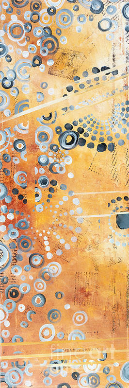 Art Art Print featuring the painting Abstract Decorative Art Original Circles Trendy Painting By Madart Studios by Megan Duncanson
