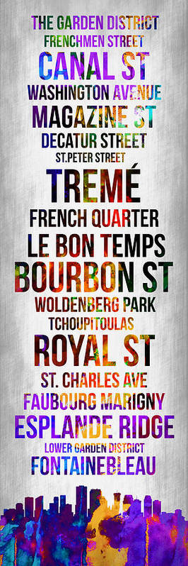New Orleans Art Print featuring the digital art Streets Of New Orleans 1 by Naxart Studio