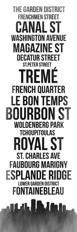 New Orleans Art Print featuring the digital art Streets Of New Orleans 3 by Naxart Studio
