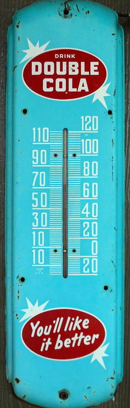 Rustic Art Print featuring the photograph Rustic Thermometer by David Brown