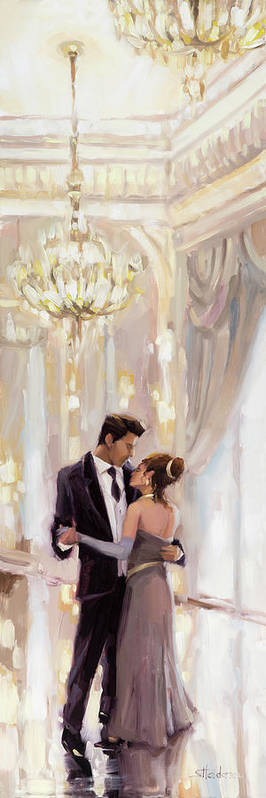 Romance Art Print featuring the painting Just The Two Of Us by Steve Henderson