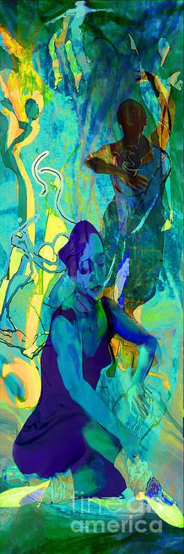 Woman Art Print featuring the painting Pas De Deux by Anne Weirich