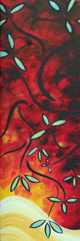 Wall Art Print featuring the painting Simply Glorious 1 By Madart by Megan Duncanson