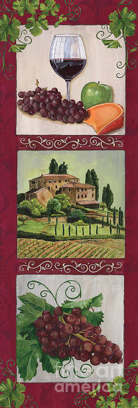 Wine Art Print featuring the painting Chianti And Friends Collage 1 by Debbie DeWitt