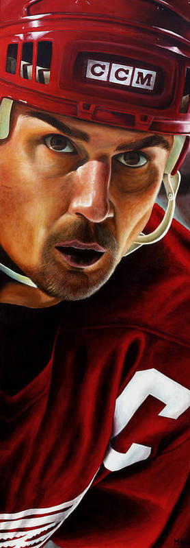 Sports Print featuring the painting Stevie Y by Marlon Huynh