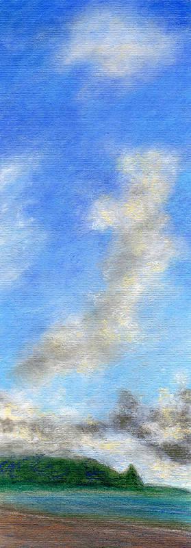 Coastal Decor Art Print featuring the painting Kauapea Evening by Kenneth Grzesik