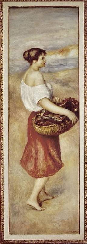 Vertical Art Print featuring the photograph Renoir, Pierre-auguste 1841-1919. Girl by Everett