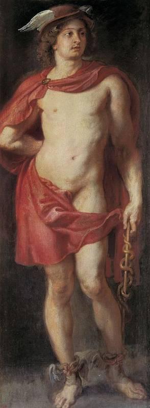 Vertical Art Print featuring the photograph Rubens, Peter Paul 1577-1640. Mercury by Everett