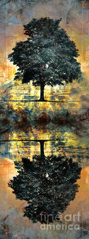 Tree Art Print featuring the digital art The Small Dreams Of Trees by Tara Turner