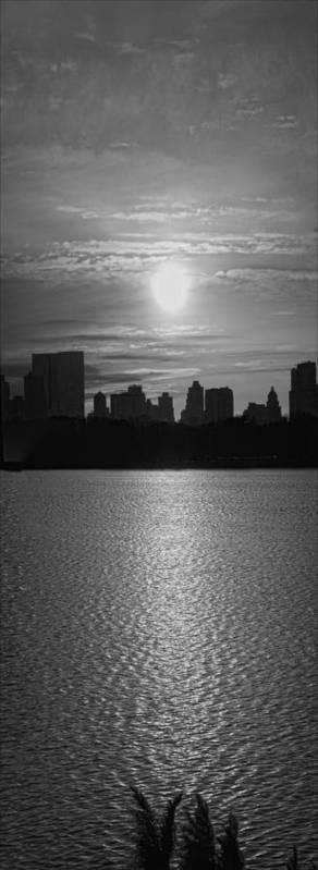 Black And White Art Print featuring the photograph Ny Panorama Vertical by Robert Ullmann