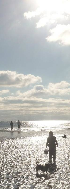 Art Print featuring the photograph Twinkling Sunlight On The Beach by Jane Stanley