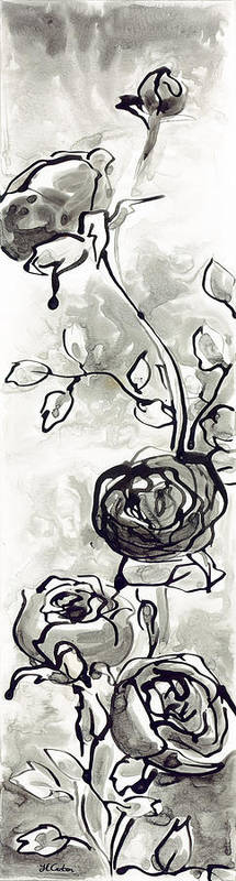 Rose Art Print featuring the painting Flourish by Holly Carton