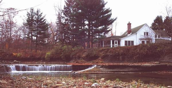 Waterfall Art Print featuring the photograph 111701-12 by Mike Davis