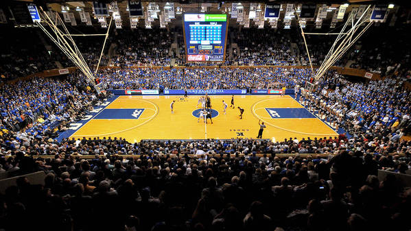 Duke Art Print featuring the photograph Duke Blue Devils Cameron Indoor Stadium by Replay Photos