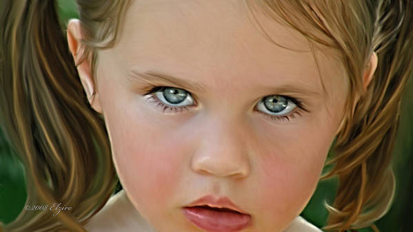 Art Print featuring the painting Those Eyes by Elzire S