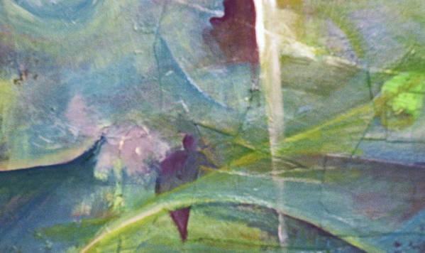 Representational Landscape Art Print featuring the painting Walking Between Worlds by Robert Daniels