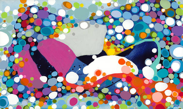 Abstract Art Print featuring the painting On The Up And Up by Claire Desjardins