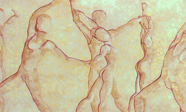Watercolor Art Print featuring the painting Dancers - 10 by Caron Sloan Zuger