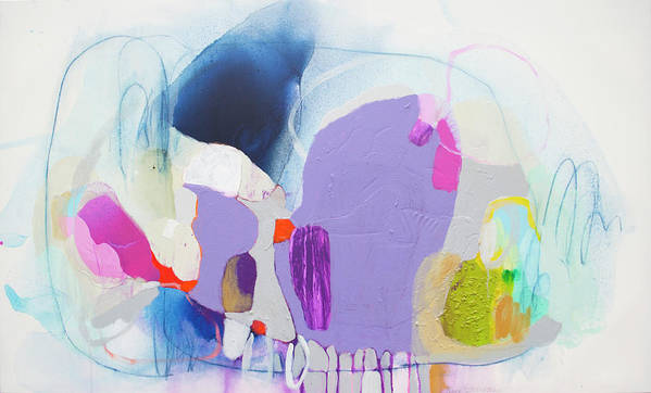 Abstract Art Print featuring the painting Sometime In June by Claire Desjardins