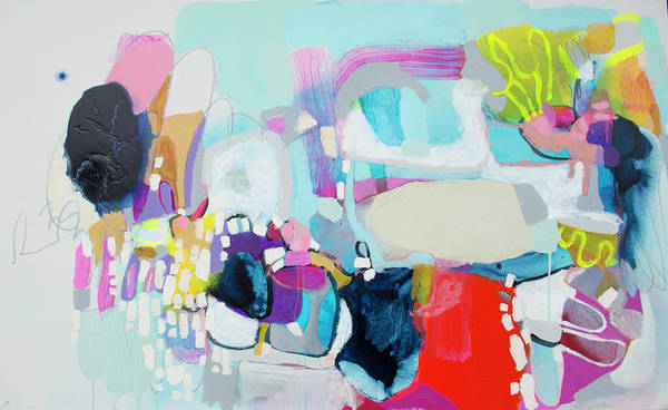 Abstract Art Print featuring the painting Can't Wait by Claire Desjardins