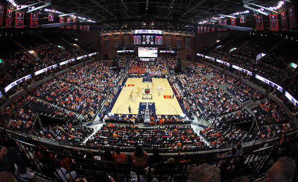 John Art Print featuring the photograph Virginia Cavaliers John Paul Jones Arena by Replay Photos