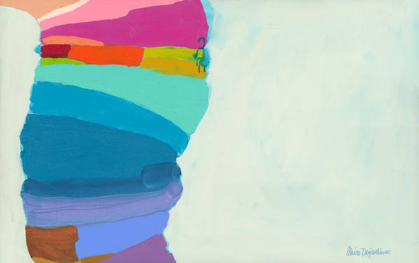 Abstract Art Print featuring the painting The Right Timing by Claire Desjardins