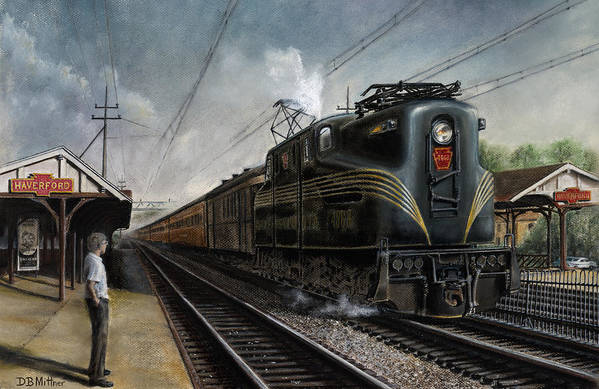 Trains Art Print featuring the painting Mainline Memories by David Mittner