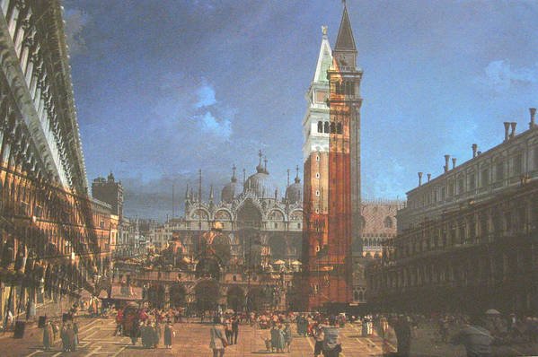 Landscape Art Print featuring the painting After St. Mark's Square by Hyper - Canaletto