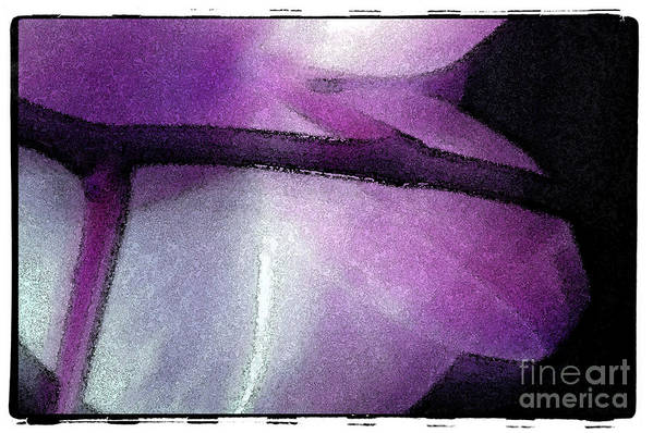 Nature Art Print featuring the digital art Purple Orchid by Michael Ziegler