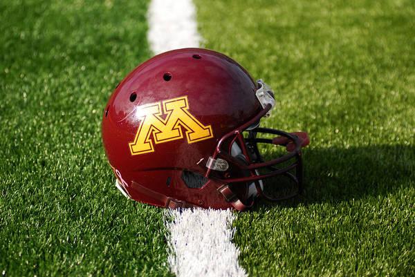 University Of Minnesota Art Print featuring the photograph Minnesota Football Helmet by Bill Krogmeier