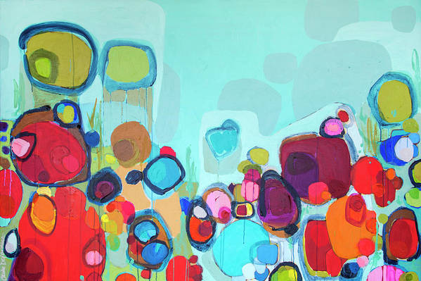 Abstract Art Print featuring the painting Always Will Be by Claire Desjardins